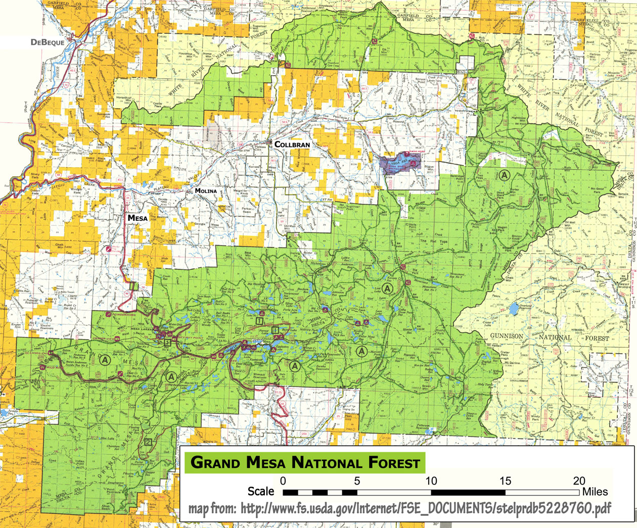 United States Forest Service Maps Colorado